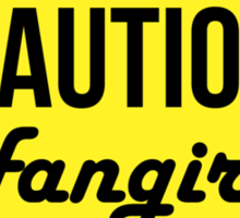 Caution Tshirt Sticker