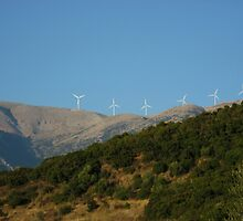 wind turbines by tbshots