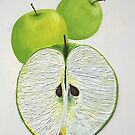 Green Apples String Art by cathy savels