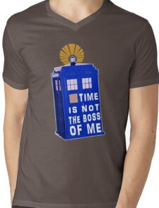 Time is not the boss of me Mens V-Neck T-Shirt