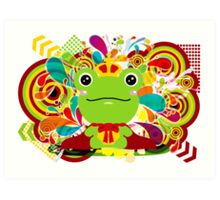The frog which did not fit a prince Art Print