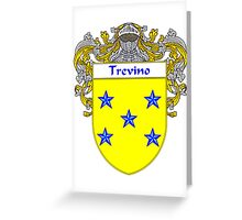 Trevino Coat of Arms/Family Crest Greeting Card