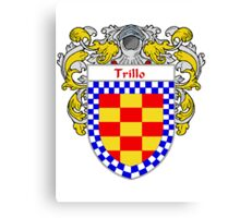 Trillo Coat of Arms/Family Crest Canvas Print