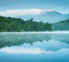 Price Lake Grandfather Mountain Reflection Blue Ridge Parkway by MarkVanDyke