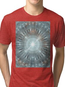 Christmas Gothic Cathedral Window Tri-blend T-Shirt