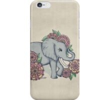 Little Elephant in soft vintage pastels iPhone Case/Skin