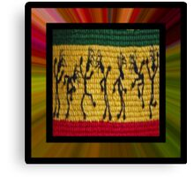 lively reggae dancers (square) Canvas Print