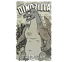 Dinozilla BW Photographic Print