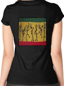 lively reggae dancers (square) Women's Fitted Scoop T-Shirt