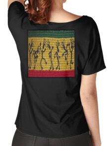 lively reggae dancers (square) Women's Relaxed Fit T-Shirt