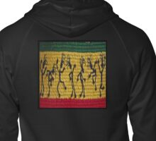 lively reggae dancers (square) Zipped Hoodie