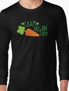 CRAZY VEGAN LADY Long Sleeve T-Shirt