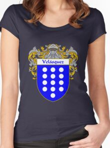 Velasquez  Coat of Arms/Family Crest Women's Fitted Scoop T-Shirt