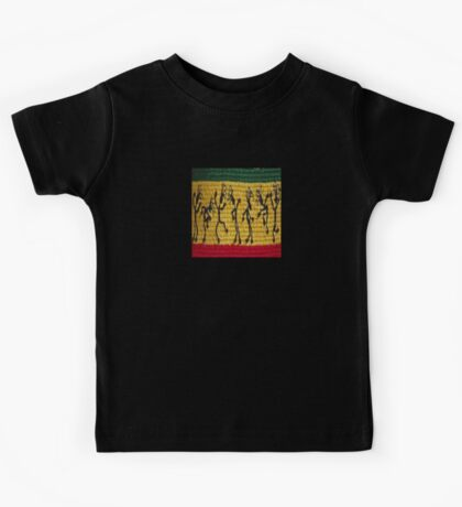lively reggae dancers (square) front Kids Tee