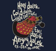 Hard Dalek, Cold Dalek (Red/Gold) by B4DW0LF