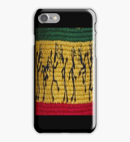 lively reggae dancers (square) iPhone Case/Skin