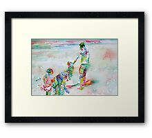 FATHER AND CHILDREN Framed Print