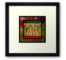 lively reggae dancers (square) front Framed Print