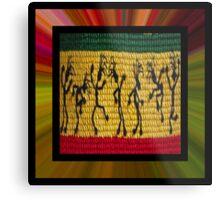 lively reggae dancers (square) front Metal Print