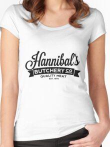 Hannibal's Butchery (DARK) Women's Fitted Scoop T-Shirt