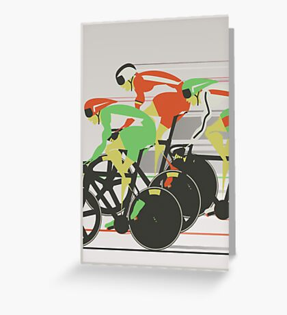 Velodrome bike race Greeting Card