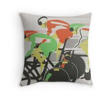 Velodrome bike race Throw Pillow