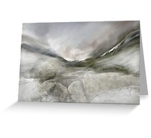 River stones Wasdale Greeting Card