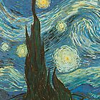 Starry Night Van Gogh by SometimesSilent