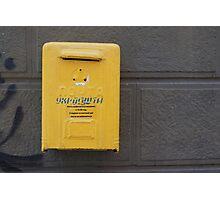 Postbox yellow in Ukraine  Photographic Print