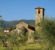 Tuscan romanic church(Gaville /Figline Valdarno) Italy by bertipictures