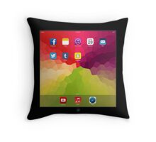 iPillow - Apple reinvents the pillow (in black) Throw Pillow