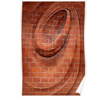 Spiral in Brick Poster