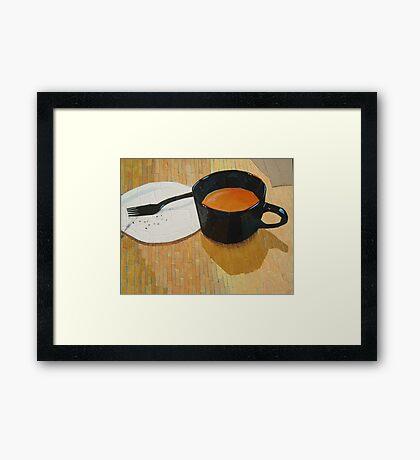 """Coffee shop"" Framed Print"