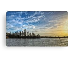 Sunset over a Nature Reserve Canvas Print