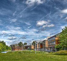 Clouds over a University Campus by pixog