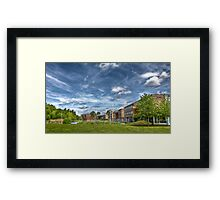 Clouds over a University Campus Framed Print