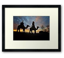 The Gold Ninja on the move Framed Print