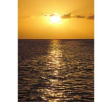 Sunset in St Lucia 1 Photographic Print