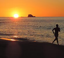 Sunset jogger by Tizz07