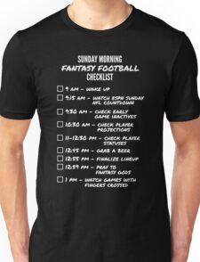 Fantasy Football Checklist T-Shirt