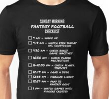 Fantasy Football Checklist Unisex T-Shirt