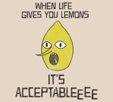 Adventure Time Lemongrab Acceptable by lauraporah