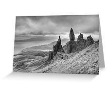The Old man of Storr -Black and White Greeting Card