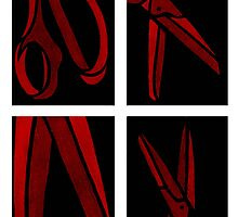 Red Scissors by ShosannaDetail