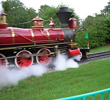 Disney World Steam Train by BearheartFoto