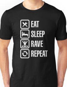 Eat sleep rave repeat Unisex T-Shirt