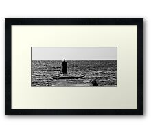fishing lady Framed Print