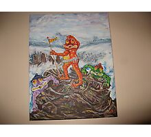 Crazy Frogs Don't Look Down Photographic Print