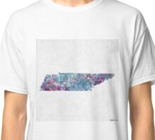 tennessee map cold colors Classic T-Shirt