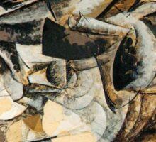 Boccioni - Charge of the Lancers Sticker